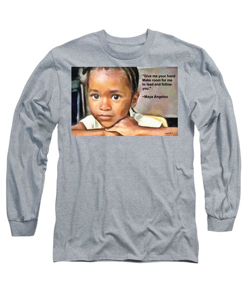 Long Sleeve T-Shirt featuring the painting Through The Eyes Of A Child by Wayne Pascall