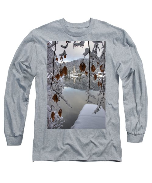 Long Sleeve T-Shirt featuring the photograph Through The Snow Trees by Ian Middleton