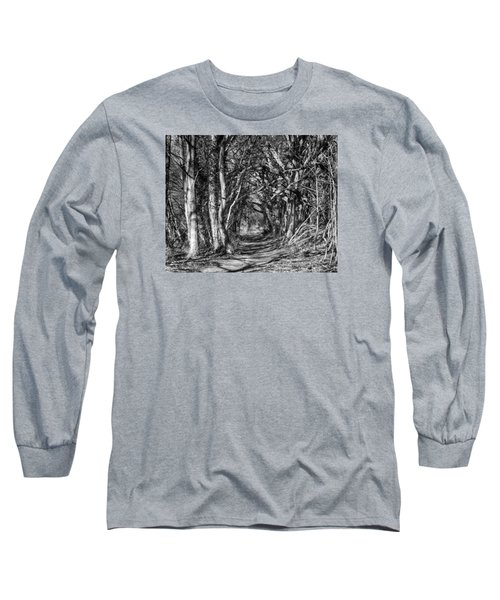 Through The Tunnel Bw 16x20 Long Sleeve T-Shirt