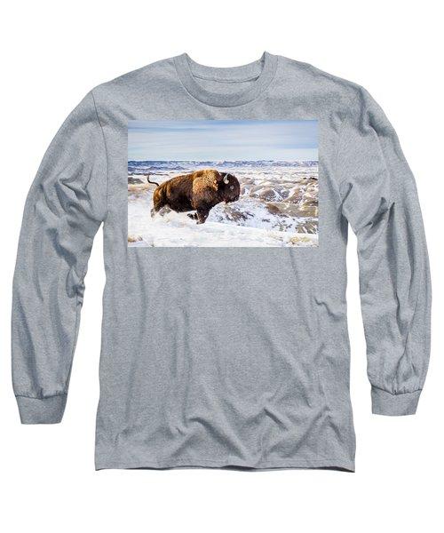 Thunder In The Snow Long Sleeve T-Shirt by Rikk Flohr