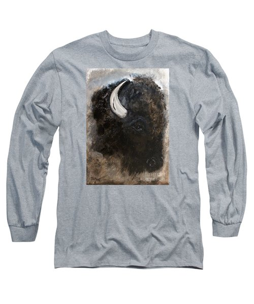 Long Sleeve T-Shirt featuring the painting Thunder Medicine Cloud by Barbie Batson