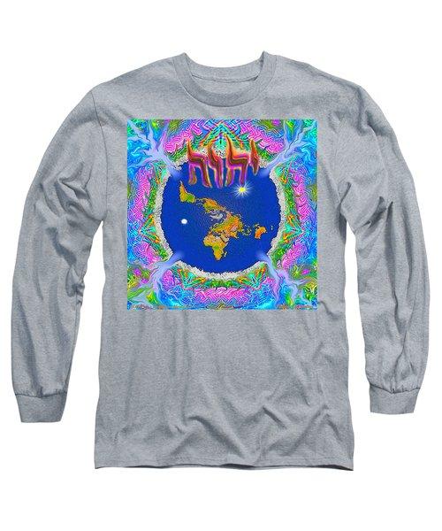 Y H W H Creation Mandala Flat Earth Long Sleeve T-Shirt