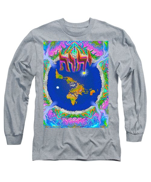 Y H W H Creation Mandala Flat Earth Long Sleeve T-Shirt