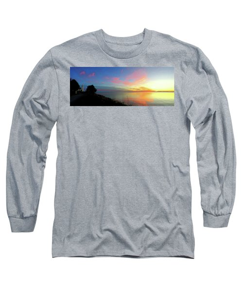 Sunset At Tibbetts Point Light, 2015 Long Sleeve T-Shirt