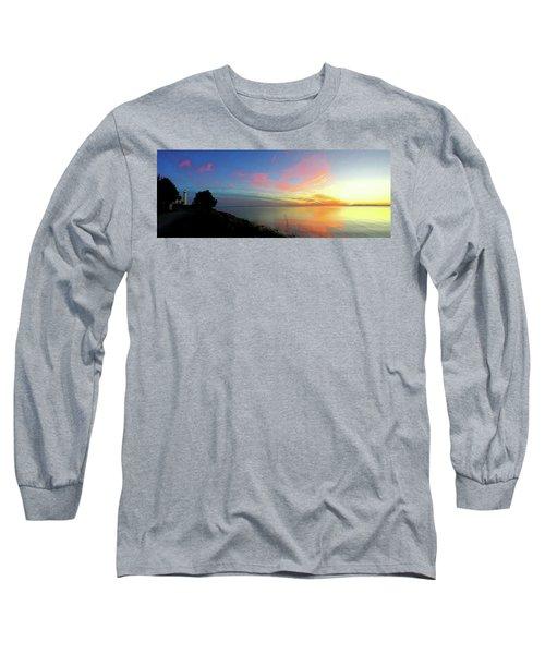 Sunset At Tibbetts Point Light, 2015 Long Sleeve T-Shirt