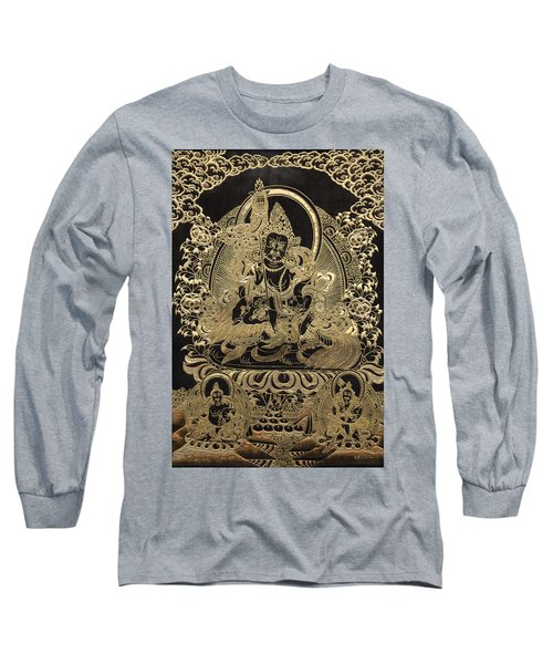 Tibetan Thangka - Vaishravana Long Sleeve T-Shirt