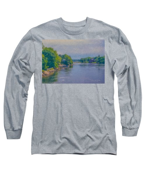 Tidal Inlet In Southern Maine Long Sleeve T-Shirt