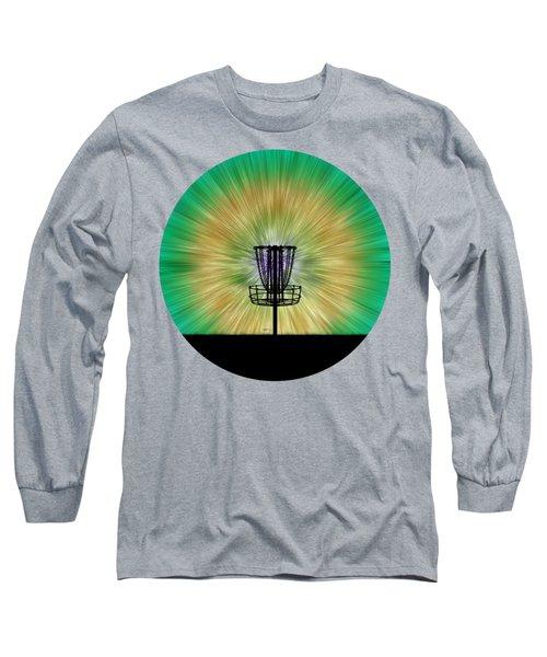 Tie Dye Disc Golf Basket Long Sleeve T-Shirt