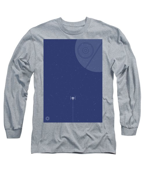Tie Fighter Defends The Death Star Long Sleeve T-Shirt