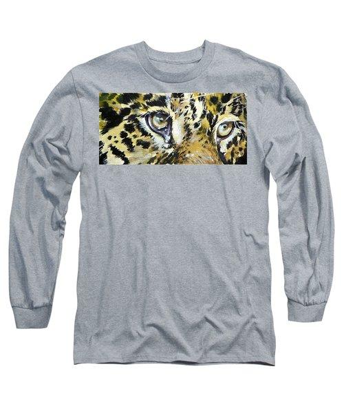 Long Sleeve T-Shirt featuring the painting Tiger Eyes by Kovacs Anna Brigitta