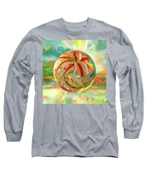 Long Sleeve T-Shirt featuring the digital art Tiger Lily Dream by Robin Moline