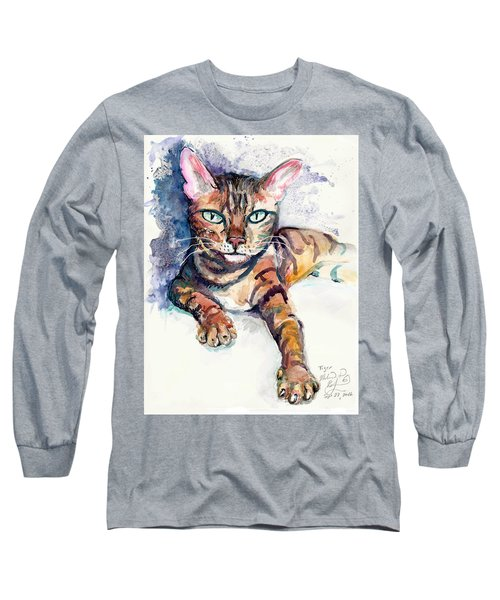 Tiger Long Sleeve T-Shirt by Melinda Dare Benfield