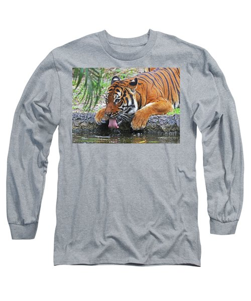Thirsty Tiger Long Sleeve T-Shirt