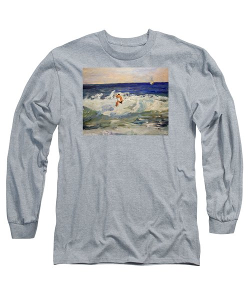 Tightrope Walking The Waves Long Sleeve T-Shirt