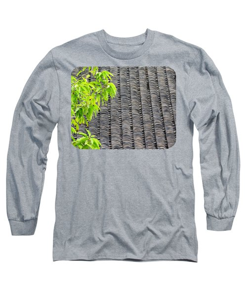 Tiled Roof Long Sleeve T-Shirt by Ethna Gillespie