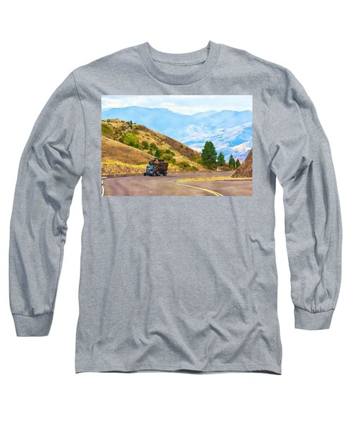 Timbers Truck In Idaho Long Sleeve T-Shirt