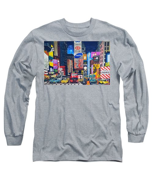 Times Square Long Sleeve T-Shirt by Autumn Leaves Art