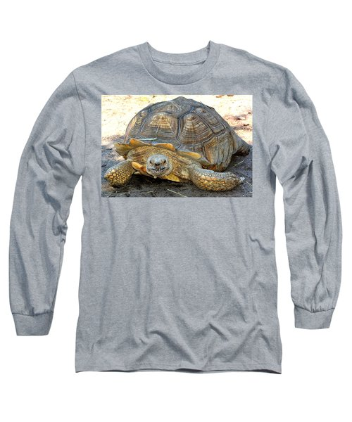 Timothy The Giant Tortoise Long Sleeve T-Shirt