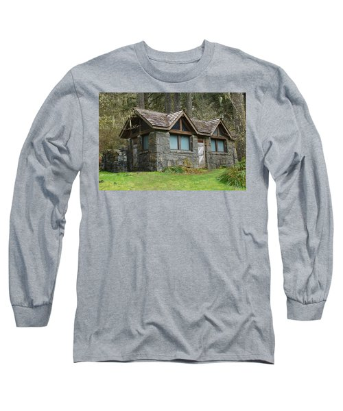 Tiny House In The Woods Long Sleeve T-Shirt by Angi Parks