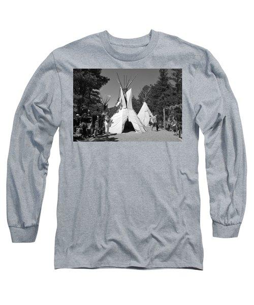 Tipis In Black Hills Long Sleeve T-Shirt by Matt Harang