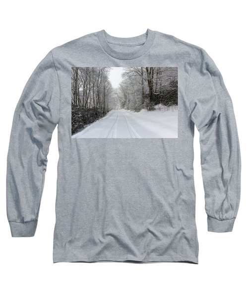 Tire Tracks In Fresh Snow Long Sleeve T-Shirt
