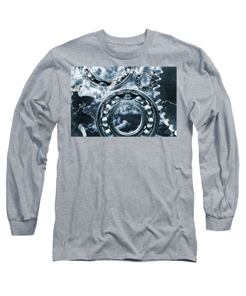 Titanium Gears Against Storm Clouds Long Sleeve T-Shirt
