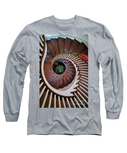 To The Bottom Of The Staircase Long Sleeve T-Shirt by Nicki McManus