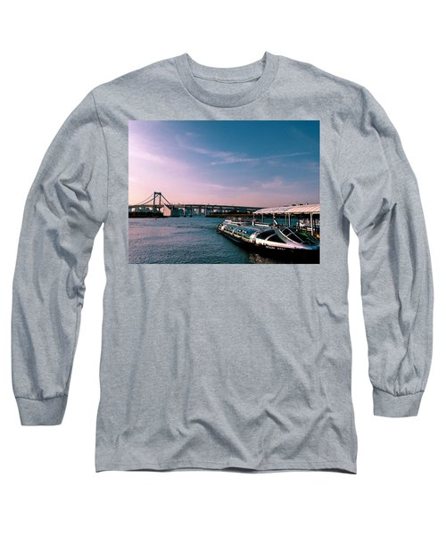 To The Space From Sea Long Sleeve T-Shirt by Momoko Sano