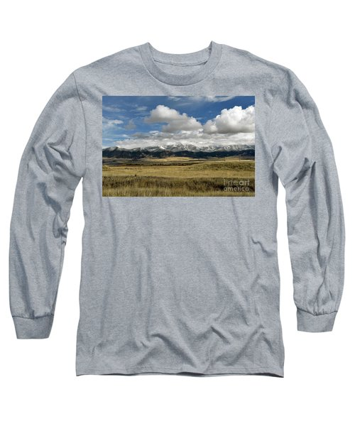 Tobacco Root Mountains Long Sleeve T-Shirt by Cindy Murphy - NightVisions