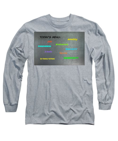Today's Menu #2 Long Sleeve T-Shirt