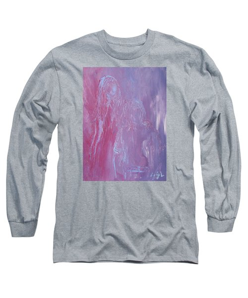 Long Sleeve T-Shirt featuring the painting Togetherness by Jane See