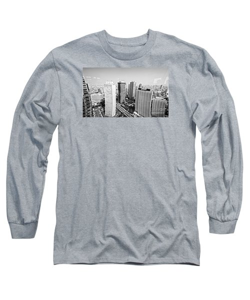 Tokyo Skyline Long Sleeve T-Shirt by Pravine Chester
