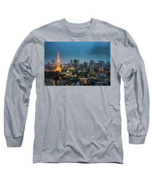 Tokyo Tower And Skyline Long Sleeve T-Shirt