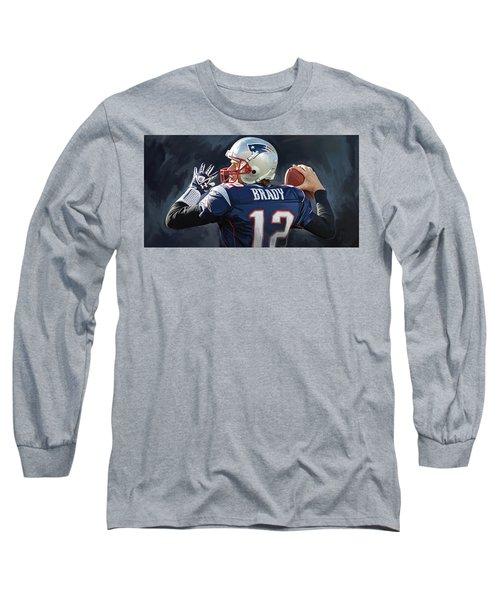 Tom Brady Artwork Long Sleeve T-Shirt