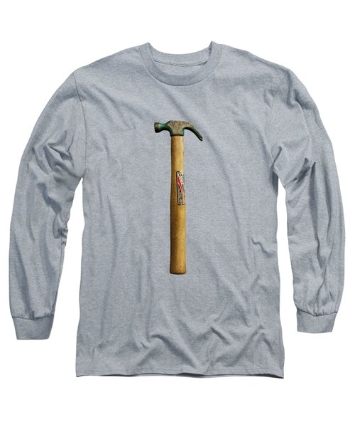 Tools On Wood 17 On Bw Long Sleeve T-Shirt by YoPedro
