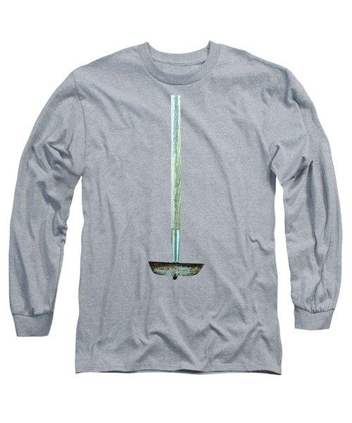 Tools On Wood 55 On Bw Long Sleeve T-Shirt