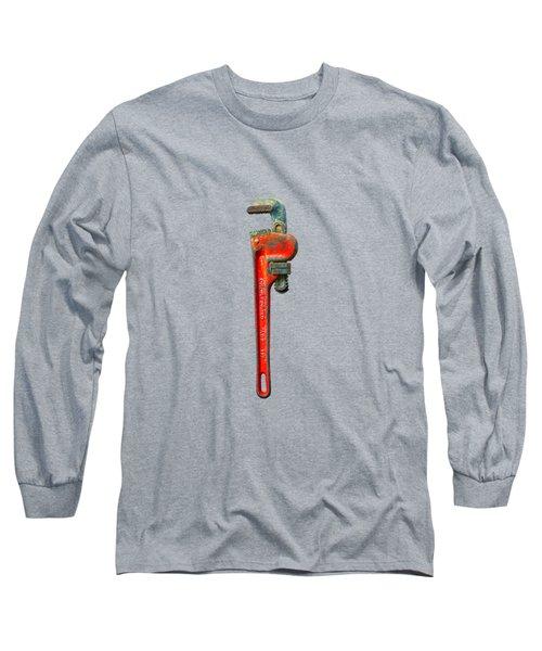 Tools On Wood 62 On Bw Long Sleeve T-Shirt
