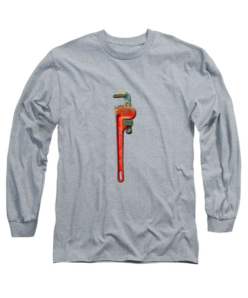 Tools On Wood 62 On Bw Long Sleeve T-Shirt