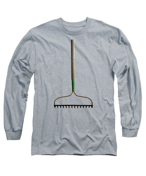 Tools On Wood 8 On Bw Long Sleeve T-Shirt by YoPedro