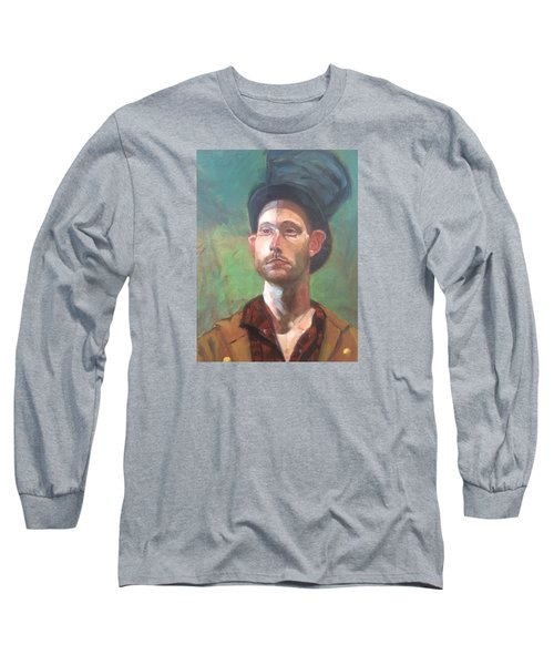Long Sleeve T-Shirt featuring the painting Topper by JaeMe Bereal