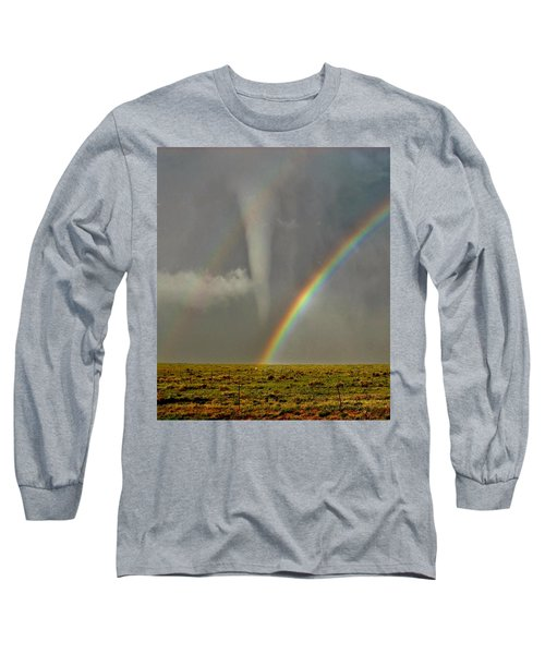 Tornado And The Rainbow II  Long Sleeve T-Shirt