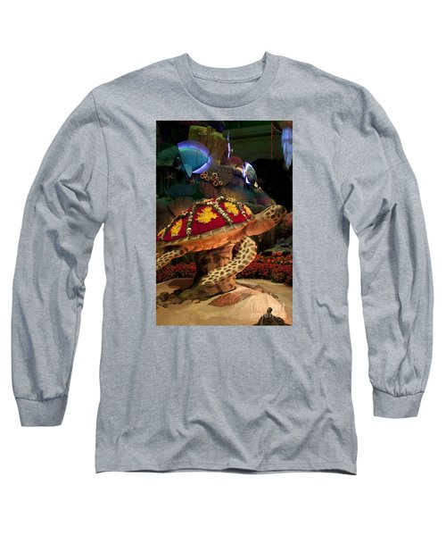 Tortoise In The Garden Long Sleeve T-Shirt by Ivete Basso Photography