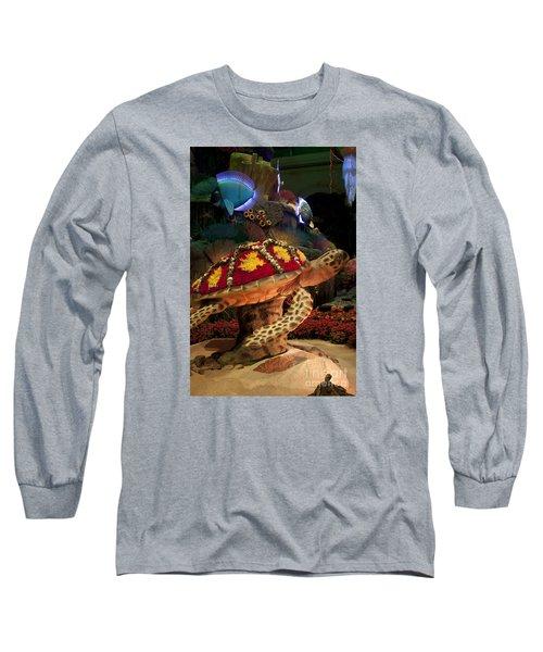 Tortoise In The Garden Long Sleeve T-Shirt