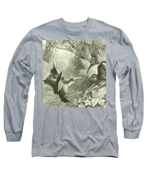 Toucans And Monkeys Long Sleeve T-Shirt