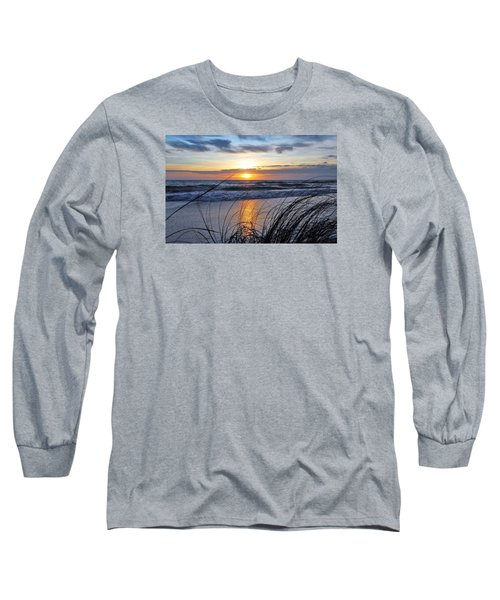Long Sleeve T-Shirt featuring the photograph Touching The Sunset by Kicking Bear Productions