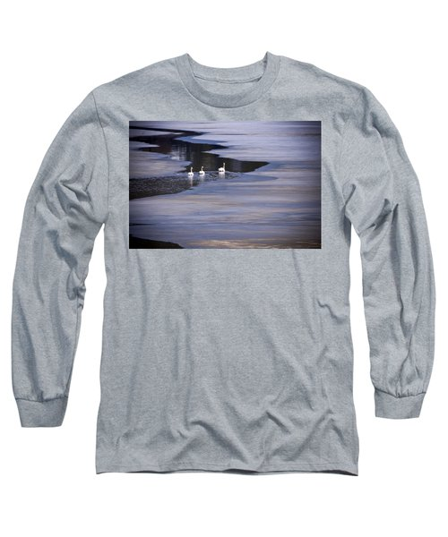 Tourist Swans Long Sleeve T-Shirt