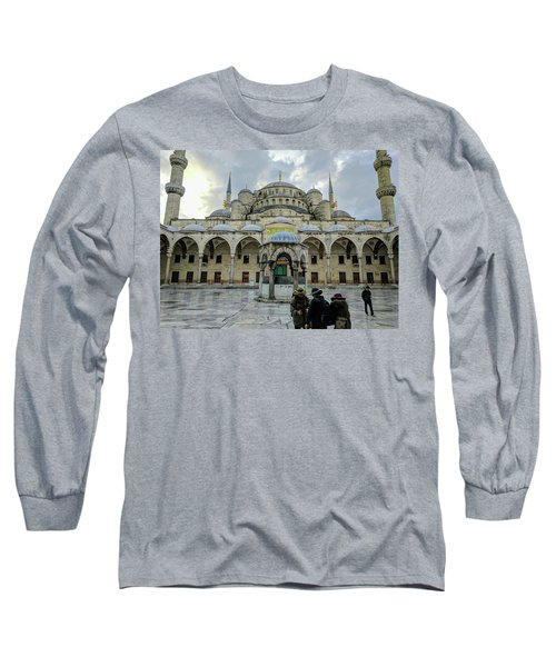 Tourists And The Blue Mosque Long Sleeve T-Shirt