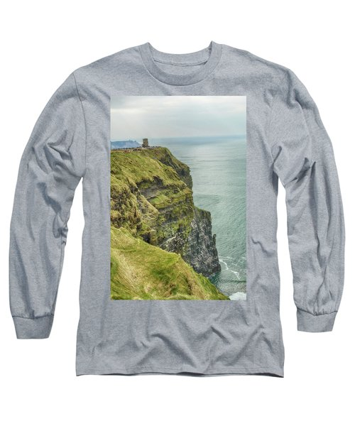 Tower At The Cliffs Of Moher Long Sleeve T-Shirt
