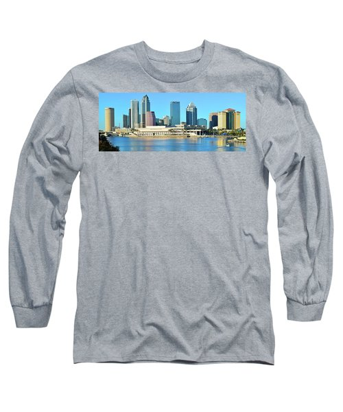 Long Sleeve T-Shirt featuring the photograph Towers By The Bay by Frozen in Time Fine Art Photography