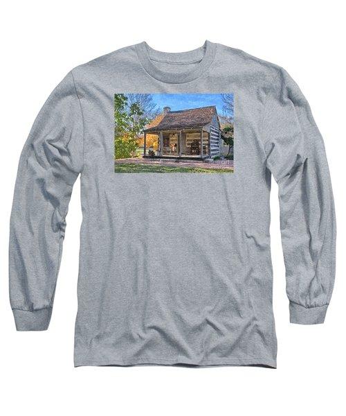 Town Creek Log Cabin In Fall Long Sleeve T-Shirt